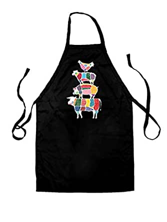 Meat Stack Diagram - Unisex Fit Kids Apron - Black - One Size