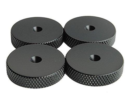 Fisual Brass Speaker Spike Shoes Floor Protectors (Black, 8 - Wood Black Speaker Stands Satin