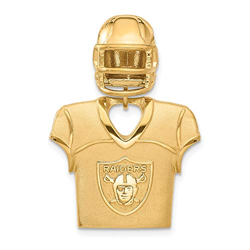 Kira Riley Gold Plated Oakland Raiders Jersey & Helmet Pendant for Chains and Necklaces (Oakland Pendant)