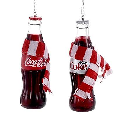 Coca Cola Christmas Bottle.Coca Cola Coke Bottle With Scarf Ornament 2 Assorted Coca Cola And Diet Coke