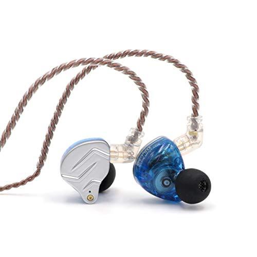 Linsoul KZ ZSN Pro Dual Driver 1BA+1DD Hybrid Metal Earphones HiFi in-Ear Monitor with Detachable 2Pin Cable