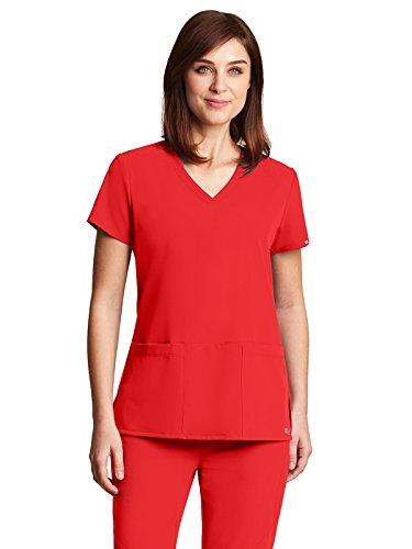 Grey's Anatomy Signature 2115 V-Neck 3 Pocket Top Poppy 4XL