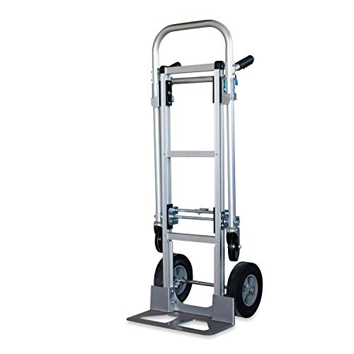Pack-N-Roll 87-308-917 One Size Silver,2-in-1 Hand Truck Dolly Easily converts into a Platform cart,10-inch Solid Wheels