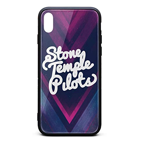 WaveC iPhone Xs MAX Case Vintage-Stone-Temple-Pilots-White-Logo- Shockproof Protective TPU Back Cover for Apple iPhone Xs - Logo 1 Necktie