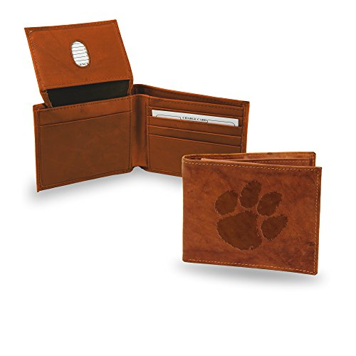 NCAA Clemson Tigers Embossed Leather Billfold Wallet ()