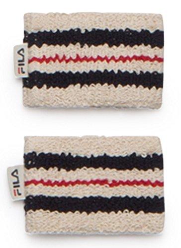 Fila Unisex Retro Comfort Tennis Wristbands O/S BEIGE