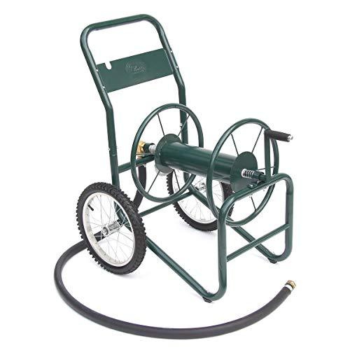 Liberty Garden Products 1180-2 Industrial 2-Wheel Garden Hose Reel Cart, Holds 150-Feet of 1-Inch Hose - Green (Reel Hose 2 Wheel)