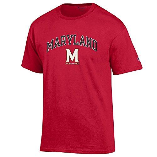 (Elite Fan Shop Maryland Terrapins Tshirt Arch M Red -)