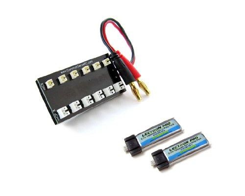 Common Sense RC Bundle: Mcx/Msr Lipos and Lectron Pro 3.7 Volt 180mAh 25C Li-Poly 2-Pack Lithium Polymer Battery - 25c Li Poly Battery