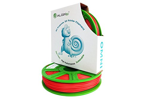 3D Printlife Omni 1.75 mm, filamento de impresora 3D Algix rojo 375g, precisión dimensional        |p|