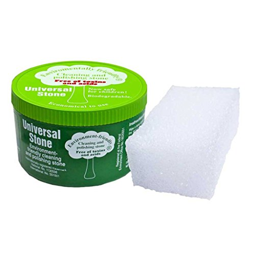 - Universal Stone - The All-Purpose Stone That Foams, Cleans, Polishes And Protects. Sponge Included. Eco Friendly and Biodegradable (650g)