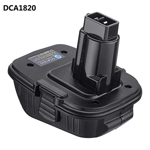 FirstPower DCA1820 for Dewalt 18V to 20 V Adapter, Compatible with Dewalt 18V Tools, Convert Dewalt 20V Lithium Ion Battery DCB205 to Dewalt 18V NiCad & NiMh Battery
