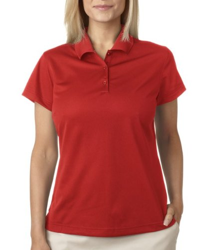adidas A131 Ladies ClimaLite Basic Polo - University Red, 2XL
