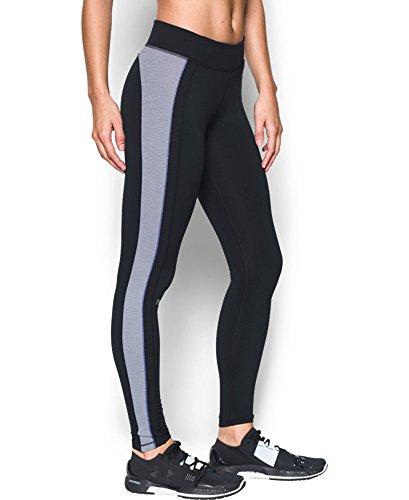 Under Armour Women's ColdGear Legging, Black/Grape Fusion, X-Small