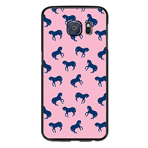 (Samsung Galaxy S6 Edge,Prancing Horse Case for Galaxy S6 Edge,Shockproof Plastic+Silicone Anti-Scratch Three Layer Portection High Impact Resistant for Women/Girls/Men)