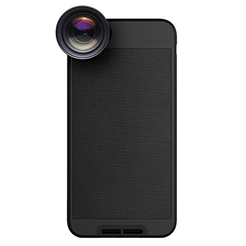 iPhone 6 Plus Case with Telephoto Lens Kit || Moment Black Canvas Photo Case plus Tele Lens || Best iphone zoom attachment lens with thin protective case. by Moment