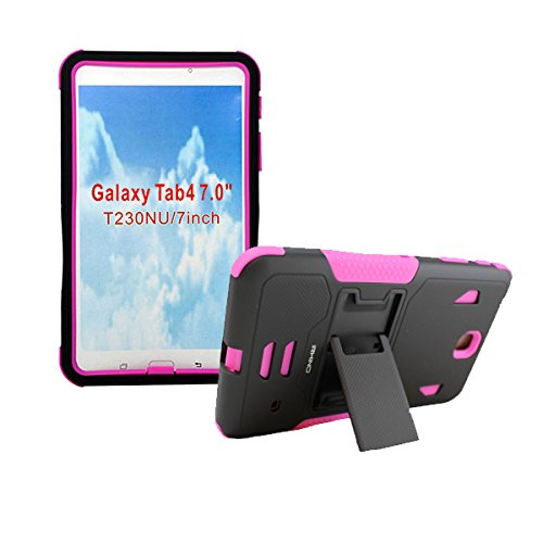new product 72c82 9b6b3 iRHINO Protective Case with Built in Kickstand for Samsung Galaxy Tab  (4.7-Inch) - Pink
