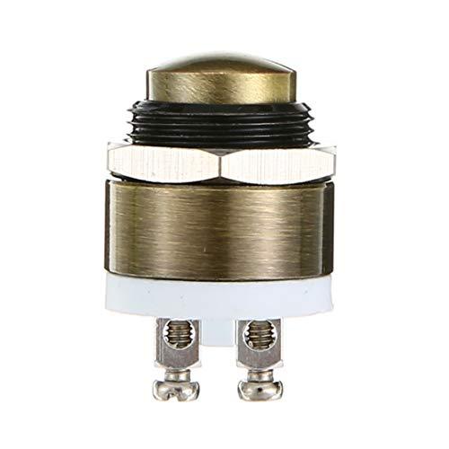 Light bulds 1.6 x 2.7cm Brass Button Switch Metal Momentary Push Button Door Bell Doorbell Switch 16mm Waterproof light bulbs