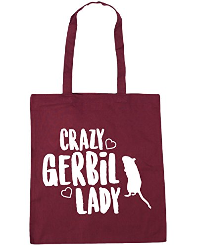 42cm HippoWarehouse x38cm Gym gerbil lady Crazy litres Tote Burgundy Beach Shopping Bag 10 qwq48Ha