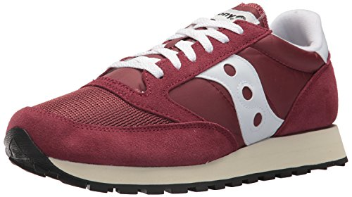 Saucony Originals Men's Jazz Vintage Running Shoe, Burgundy/White, 8 Medium US (Vintage Footwear Leather)