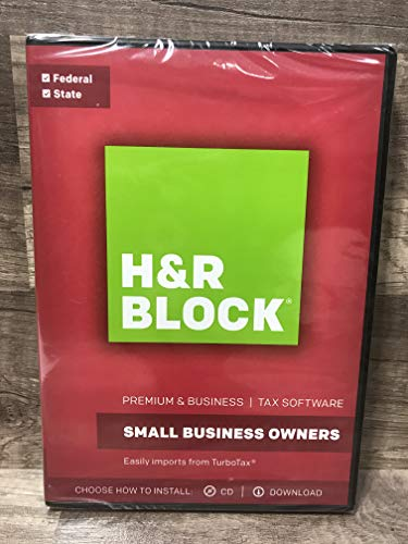 Software : H&R Block 2017 Premium & Business-Small Business Owners -Federal & State -tax software traditional disc plus download