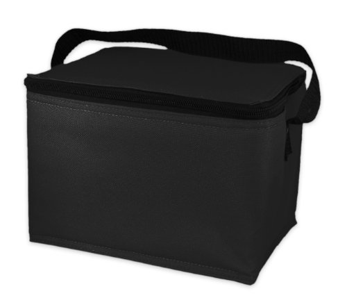 EasyLunchboxes Insulated Lunch Cooler Black