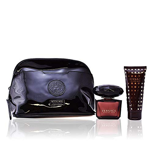 (Versace Crystal Noir 3 Piece Gift Set for Women)