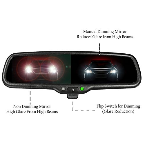 Master Tailgaters OEM Rear View Mirror with 4.3'' Auto Adjusting Brightness LCD + Manual Dimming - Universal Fit by Master Tailgaters (Image #2)