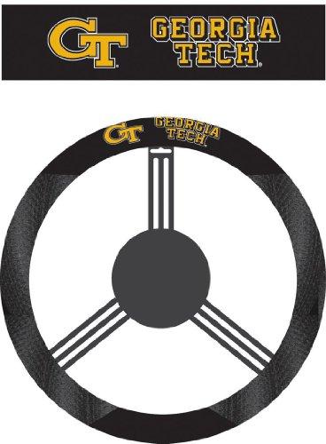 NCAA Georgia Tech Yellowjackets Poly-Suede Steering Wheel (Yellow Jacket Wheels)