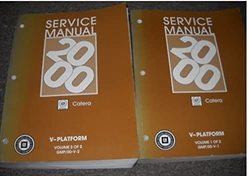 2000 cadillac catera service shop repair manual set oem gm amazon rh amazon com Cadillac Catera Problems 1998 cadillac catera repair manual