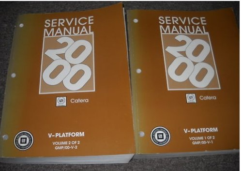 2000 Cadillac Catera Service Shop Repair Manual SET OEM
