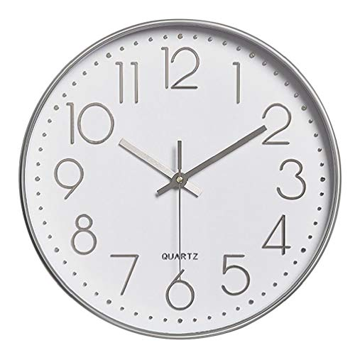 """Price comparison product image Modern Wall Clock Silent Non-Ticking Battery Operated 12"""" Round Clock Home Decor"""