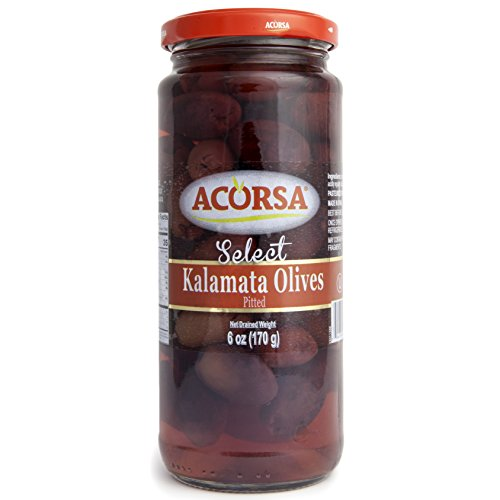 Acorsa Select Kalamata Olives, Pitted - Classic Olive Selection - 6oz ()