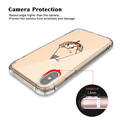 db624d050655 JAHOLAN iPhone X Case Amusing Whimsical Design Clear Cute TPU Soft Case  Rubber Silicone Cover Phone ...