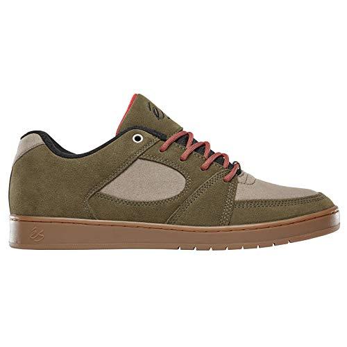 eS Men's Accel Slim Skate Shoe Brown/tan/Gum 10 Medium US ()