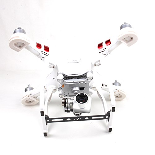 Hobby Signal Phantom 3 Gimbal Guard Camera Lens Protector Board Plate Glass Fiber for DJI (Carbon Fiber Landing Gear)