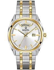 Bulova Men's 'Classic' Quartz Stainless Steel Casual Watch, Color:Two Tone (Model: 98C127)