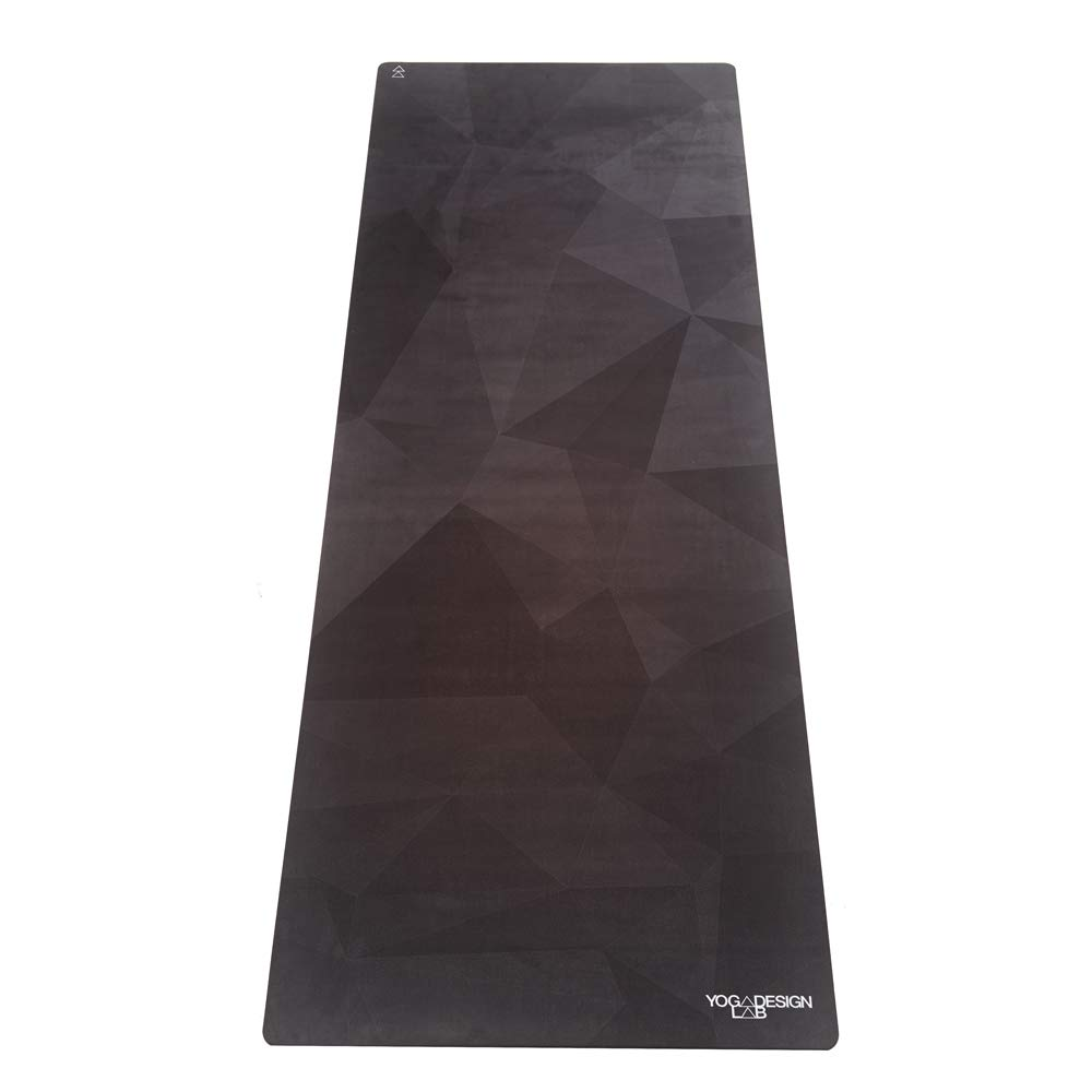 YOGA DESIGN LAB The Commuter Yoga MAT Lightweight, Foldable, Eco Luxury Mat/Towel | Ideal for Hot Yoga, Bikram, Pilates, Barre, Sweat | 1.5mm Thick | Includes Carrying Strap! (Geo Night)