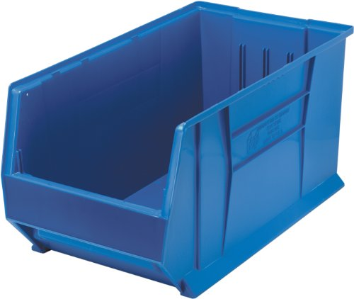 Quantum QUS976 Plastic Storage Stacking Hulk Container, 30-Inch by 16-Inch by 15-Inch, Blue, Case of 1