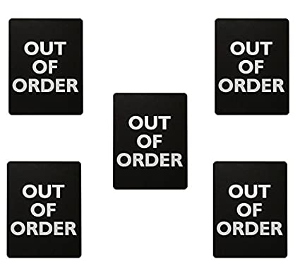 Amazon Com Out Of Order Sign For Bathroom Stalls 5 Garden