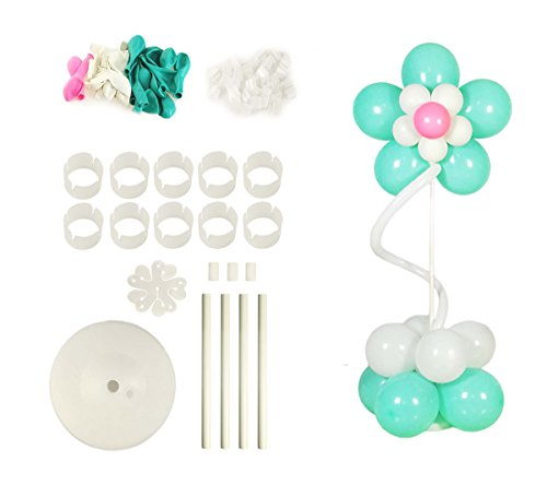Balloon Column Stand Base and Pole Decoration Kit Lomey Pedestal by WYNMarts 5 Feet Height and 2 lb Water Fillable Base & Balloons for Birthday Wedding Party Decoration