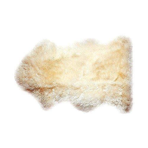 Sheepskins Natural Baby Blanket / Comforter - Unshorn Bowron Sheepskin ()