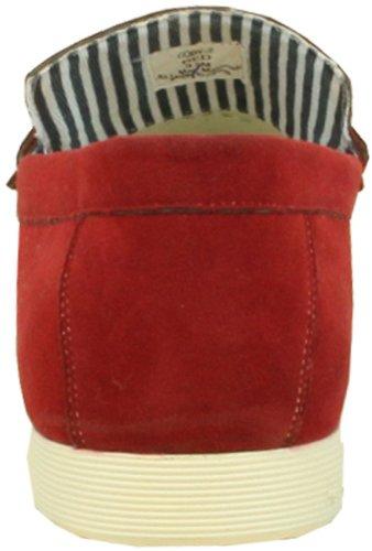 Coronado Män Avslappnade Sko Cody-2 Komfort Dagdrivare Stil Med Moc-sydd Tå Och Spänne Detaljer Röd 7,5 M