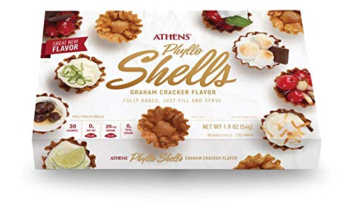 Athens Fillo Shells Graham Cracker Flavor 2pk 1.9ozea