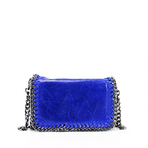 Leather Women's Crossbody Genuine Latest On Leather Trend Classy Blue Handbag S0PcqF