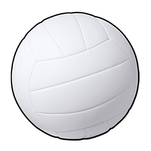 ts Fanatic White Volleyball Party Decoration Cutout 13.5