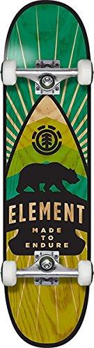 Element Skateboards Arrow Green/Yellow Complete Skateboard - 7.75