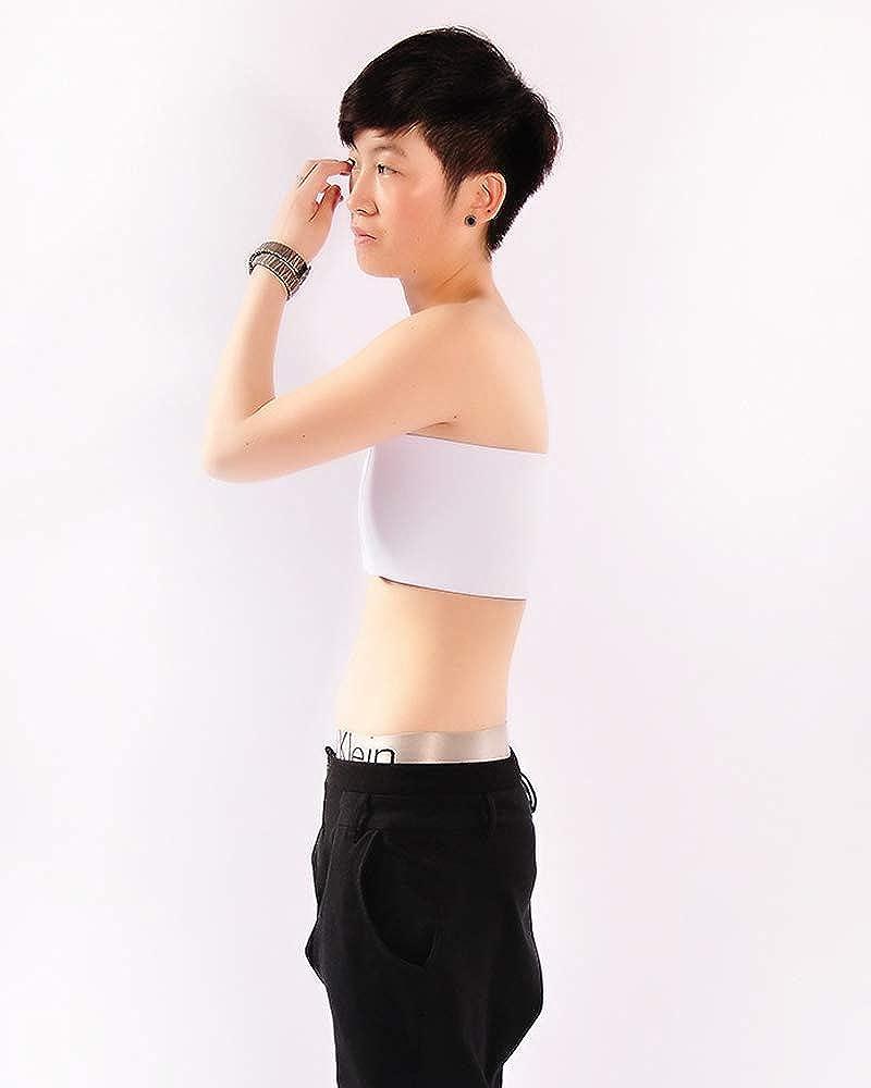 BaronHong Wrap Seno Cosplay Donne Trans Lesbiche Tomboy Elastico Senza Spalline Top Busto Binder