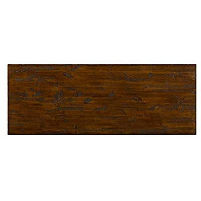 "Jofran 617-4 48"" x 18"" x 28"" Dark Rustic Pine Harper's Press Sofa Table with Wine Rack (Set of 1)"