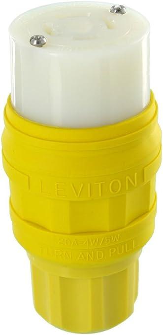 Leviton 2431 20 Amp 3P 480 Volt 3-phase 4W NEMA L16-20P Locking Plug,